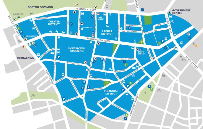Downtown Boston Business   BID Boundaries