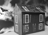Get Spooky Haunted House black and white