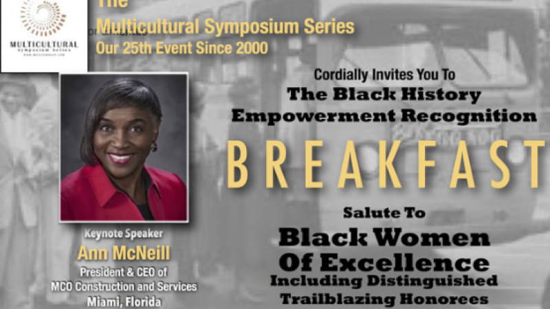 2018 Black History Breakfast: Salute To Black Women of Excellence