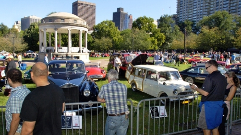 The Boston Cup Auto Show On The Boston Common