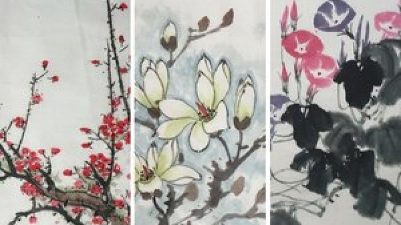 Chinese Brush Painting for Adults: Morning Glories at the Pao Arts Center