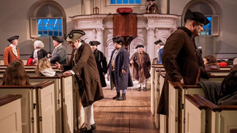 240th Anniversary Boston Tea Party Reenactment (Old South Meeting House)