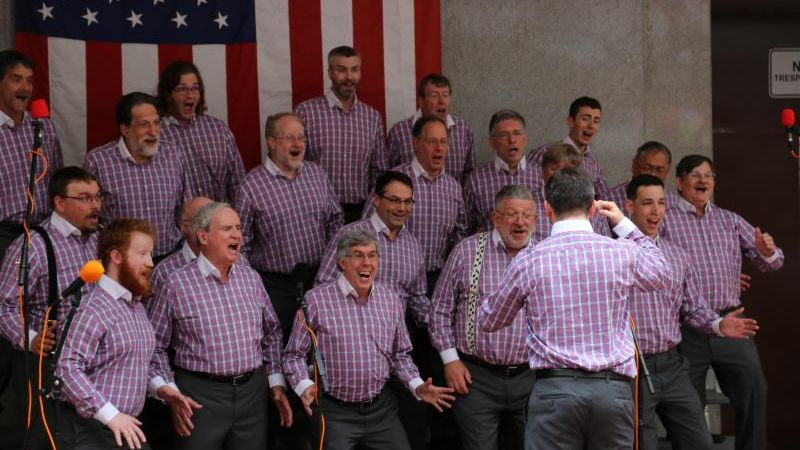 Vocal Revolution: Barbershop Chorus Performance on Summer Street